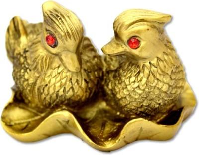 7 Ocean Feng Shui Golden Manderin Ducks Pair Showpiece - 5 cm(Ceramic, Gold)