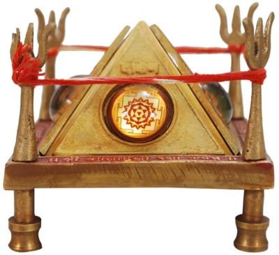 Vastu arcade Baglamukhi Raksha Kawach Chowki brass idols Showpiece  -  10 cm