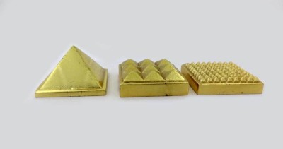Sitare Panchdhatu Pyramid 121 grams vaastu for Health and Prosperity Showpiece  -  3.5 cm(Gold, Silver, Zinc, Copper, Iron, Gold)