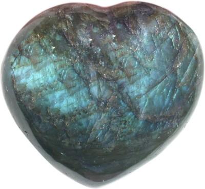 SS Murti Handicrafts Beautiful Designer Labradorite Stone Love Heart Shape 1.5 Inch Showpiece  -  3.8 cm(Stoneware, Multicolor)