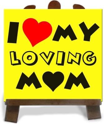 Tiedribbons Gifts For My Loving Mom Tile Showpiece  -  28 cm(Ceramic, Multicolor)