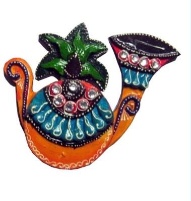 Chitra Handicraft Chopra Showpiece  -  3 cm(Paper Mache, Multicolor)