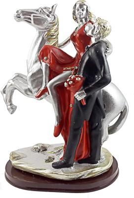 GiftsCellar Loving Couple Lady Sitting On a Horse Showpiece  -  18 cm