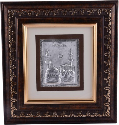 Siri Creations 999 Pure Mosque With Wooden Frame Showpiece  -  20 cm