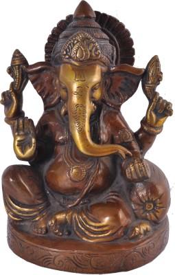 Sutra Decor Exclusive Ganesha Idol Brass Showpiece  -  17 cm