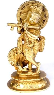 SKM Brass Idol Krishna Showpiece  -  15.24 cm