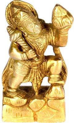 SKM Brass idol Hanuman ji spl Showpiece  -  10.16 cm