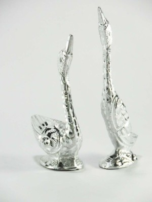 IRS silver Finished Swan Set Showpiece  -  9 cm