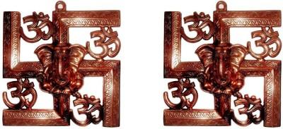 Sutra Décor Wall Hanging Swasthik Ganesha Showpiece  -  23 cm