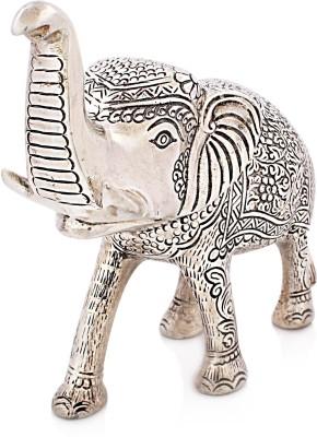Snowfinch Carved Alloy Elephant Showpiece  -  10 cm