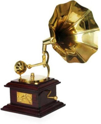 Marwar stores Antique Gramophone Showpiece  -  24 cm(Brass, Brown)