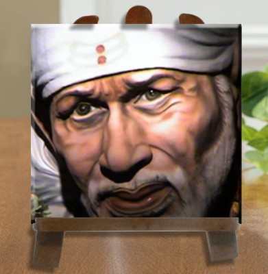 Tiedribbons Sai Baba Tile Showpiece  -  26 cm(Ceramic, White)