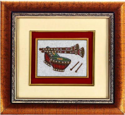 Aapno Rajasthan Tabla & Shehnai Design Showpiece  -  22 cm(Stoneware, Wooden, Multicolor)