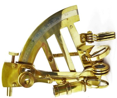 Kartique Brass Sextant for decoration Showpiece  -  6 cm(Brass, Gold)
