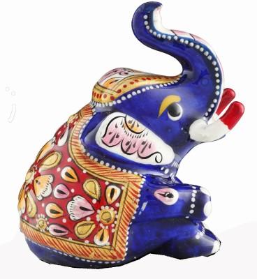 Aashirwad Sitting Elephant Showpiece  -  2 cm