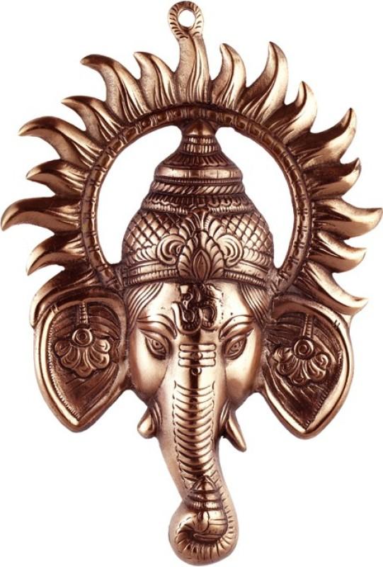 Sri Alankar Black Metal Ganesh Ji With Suraj Ji Showpiece...