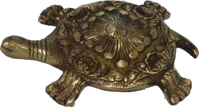 eCraftIndia Fend-Shui Tortoise Showpiece  -  2 cm(Brass, Brown)