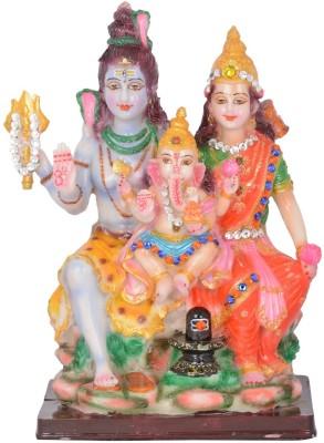 Dharmaraj Links Shiv Parivar Big Showpiece  -  30 cm