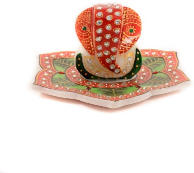 Gaura Art & Crafts Showpiece  -  11 cm(Alloy, Multicolor)