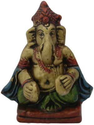 Aaradhi Divya Mantra Ganesha Playing Manjeera Showpiece  -  11 cm