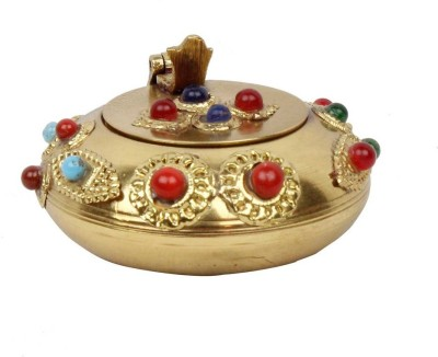 Pioneerpragati Pure Gemstone Handicraft Gift Gold Brass Ashtray