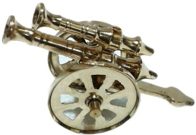 Inspiration World Vintage Brass Canon Showpiece  -  6.5 cm(Brass, Yellow)