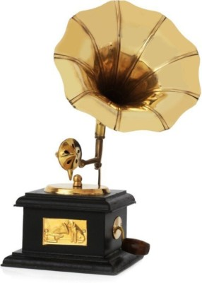 Arsalan Brass Antique Square Gramophone : Sparkle your Home Showpiece  -  24 cm