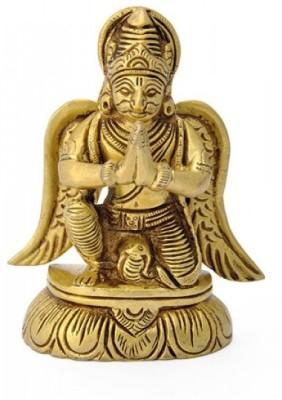 Redbag Lord Vishnu's Vehicle Garuda Brass Statue Showpiece  -  8.89 cm