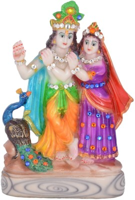 Dharmaraj Links Radha Kishan Small Showpiece  -  27 cm(Stoneware, Multicolor)