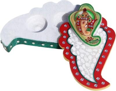 Handicrafts Paradise Marble Roli Tika Holder Showpiece  -  3.7 cm