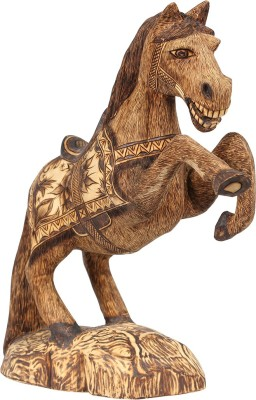 Furncoms Carving Standing Horse-S Showpiece  -  30 cm