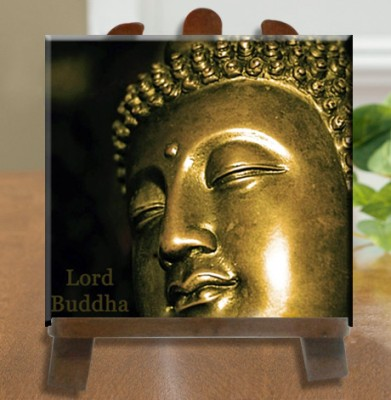 Tiedribbons Lord Buddh Tile Showpiece  -  26 cm(Ceramic, White)