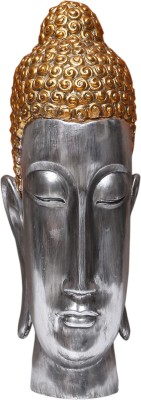 Temptations Metallic Buddha Head Showpiece  -  36 cm