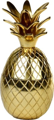 Deziworkz Pineapple Showpiece-cum-storage box Showpiece  -  25.4 cm(Aluminium, Gold)
