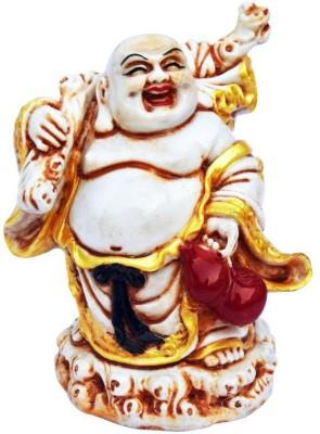 DIZIONARIO Laughing Buddha With Money Potli Showpiece  -  15 cm