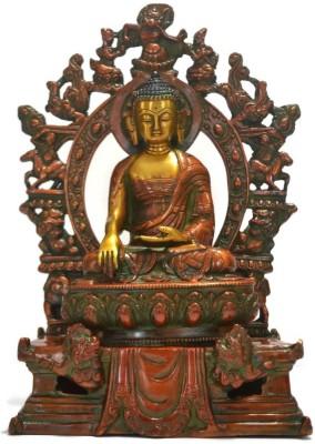 Collectible India Fegshui Large Sakyamuni Bronze Buddha Statue - Lucky Vastu Decor Showpiece - 27.5 cm
