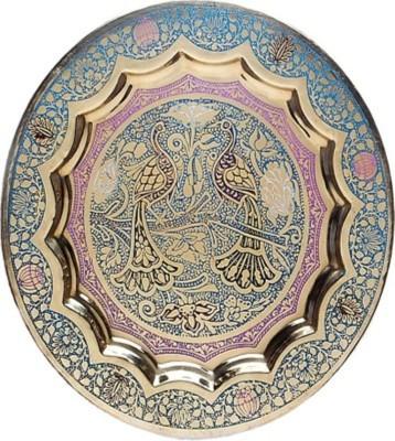 Inspiration World Vintage Brass Wall Decor Plate Showpiece  -  23 cm