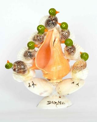 KHUSHI HANDICRAFTS SHANKH BIRD Showpiece  -  15 cm