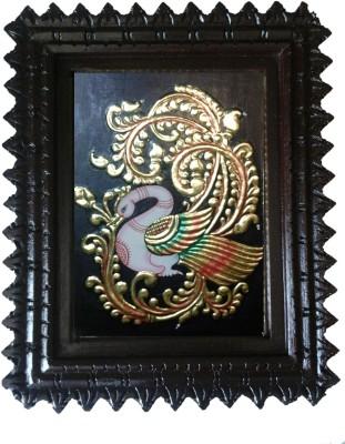 Gaga Tanjore painting - Blue Annaparavai 1 Showpiece  -  33 cm