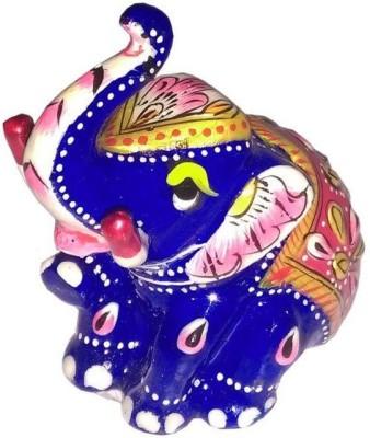 MARIYAM Meenakari Appu Elephant Showpiece  -  6 cm