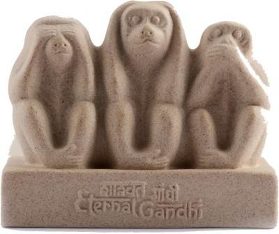 Eternal Gandhi Ceramic Mark Showpiece  -  9 cm