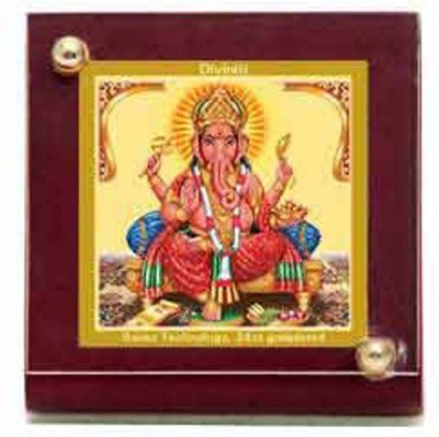 Sitare Ganesh Swizz made 24 kt Gold Foil Showpiece  -  6.0 cm