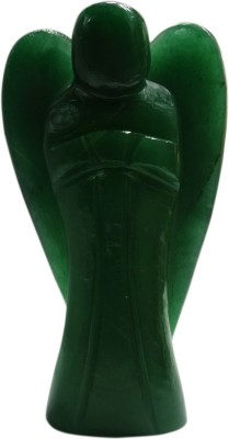 SS Murti Handicrafts Showpieces Green Aventurine Stone Figurine Angel 10 Cm Showpiece  -  10.2 cm(Stoneware, Green)