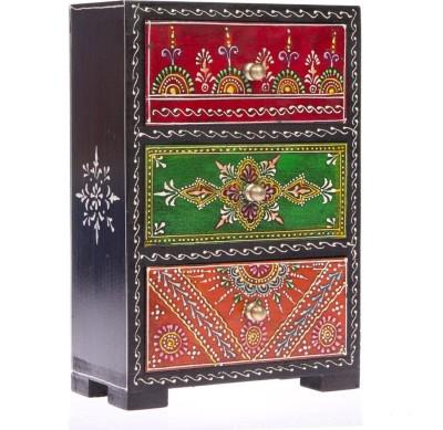 Fashion Craft Rajasthani Art Worked Wooden Wall Shelf