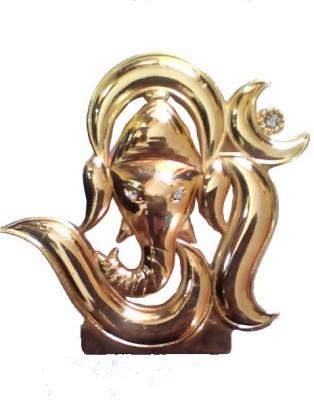 Divyas Gold Plated Om Ganesh Showpiece  -  7 cm