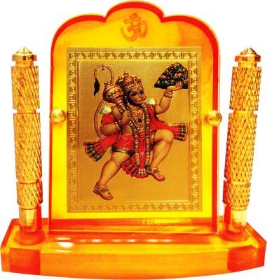 Bulb Centre Hindu God Idol Hanuman Temple Frame (M-227) Showpiece  -  8 cm