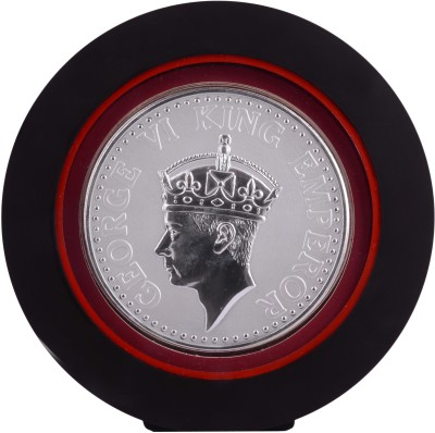 Siri Creations 999 Pure Silver King George Vi With Acralyic Frame Showpiece  -  19.5 cm