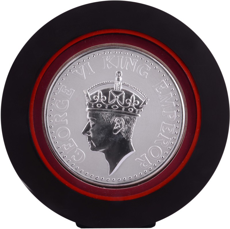 Siri Creations 999 Pure Silver King George Vi With Acralyic Frame Showpiece  -  19.5 cm(Silver, Silver)