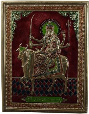 Kapasi Handicrafts Brass MInakari Goddess Umiya Wall Piece Showpiece  -  2.5 cm