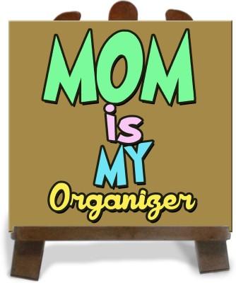 Tiedribbons Gift For Organiger Mom Cushion Tile Showpiece  -  28 cm(Ceramic, Multicolor)
